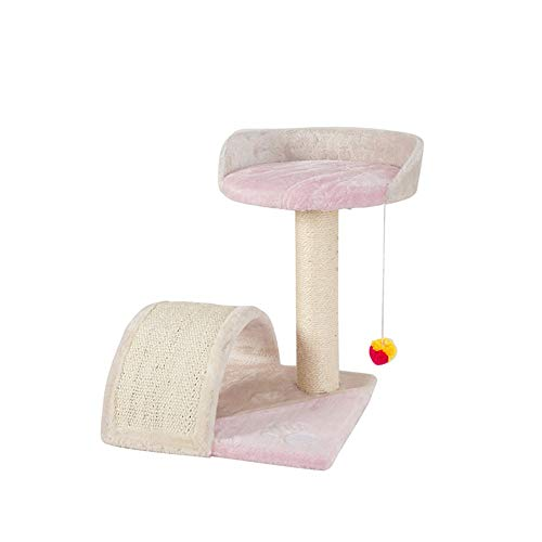 BESTSOON Cat Tree Tower Cat Climbing Tree Cat Tree Sisal Column Clawing Cat Litter Pet Supplies Cat Toy Cat Scratch Board Cat tree Kitten Furniture Activity Centre (Color : C, Size : 38 x 20 x 37cm)