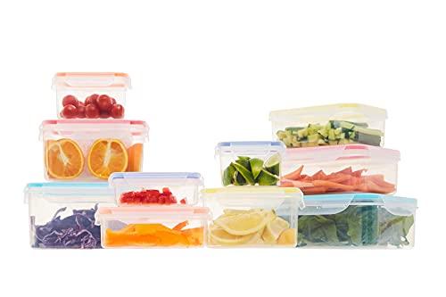 Frischhaltedosen aus Kunststoff mit Deckel, Lunchboxen, wiederverwendbare Lebensmittelaufbewahrung, 10 Stück