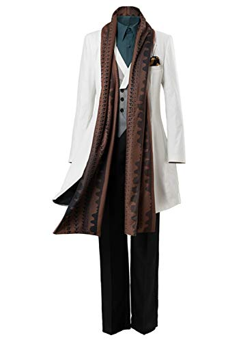 COSTHAT Fate Grand Order Merlin 3rd Anniversary Cosplay Costume FGO Caster Merlin Outfit White