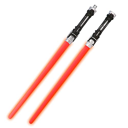 Lichtschwert, Laserschwert, Kinder Leuchten Spielzeug Sound, Zwei-In-Ein-Blitzschwert, Laser Schwerter Star Kriege