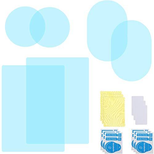 6 Stücke Auto Rückspiegel Folien Antibeschlag Auto Fenster Folien Spiegel Schutz Aufkleber Regensichere Wasserdichte Spiegelfolien mit 3 Stücke Staub Aufkleber für Autos Flügelspiegel