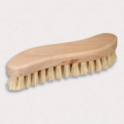 HOFMEISTER® Holz-Scheuerbürste, 21 cm, für Starke Verschmutzungen, stabile Fibre-Natur-Borste, verträgt Hitze & Reinigungsmittel, Waschbürste für Haushalt, Auto & Boot, S-Form