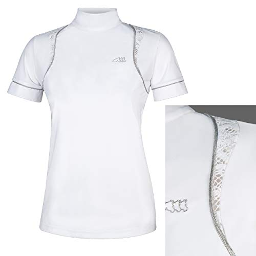 Equiline Ginger Frauen Comp Polo-Shirt S/S Weiss FS 2019, Eq19_FS_Gr.:XS