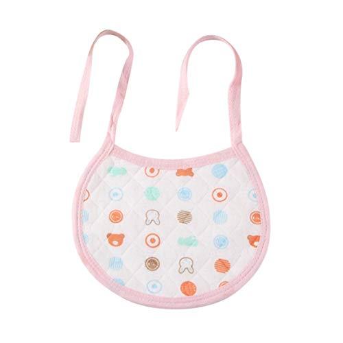 Delantales impermeables para bebés recién nacidos, niños y niñas, cómodos y completos de algodón, para bebés, cenando, baberos, toalla de saliva para bebés, rosa