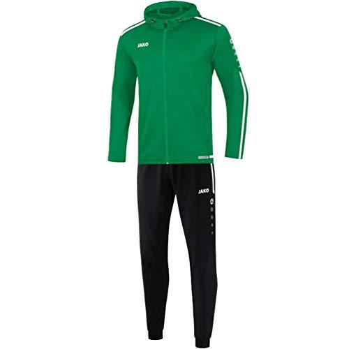 JAKO Herren Trainingsanzug Polyester Striker 2.0 mit Kapuze, sportgrün/weiß, XL, M9419