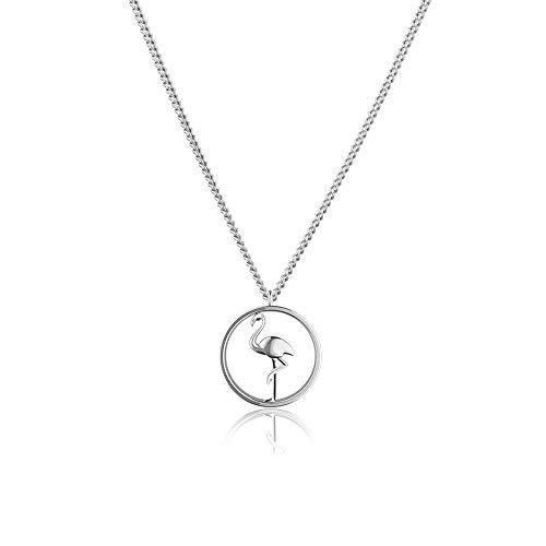 PAUL HEWITT Flamingo Halskette Damen Tropicool aus Edelstahl in Silber