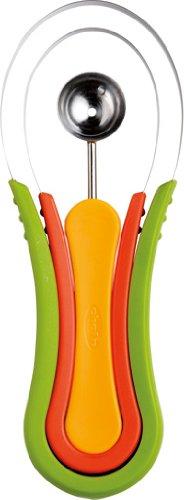Chef'n Scooptroop Bolero Melon 3 En 1, Acero Inoxidable, Centimeters