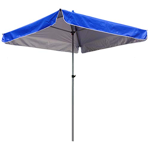 Toldo de sombrilla Cuadrado para Exteriores, Tela de Paraguas de Doble Capa Impermeable y Protector Solar, Poste de Paraguas Grueso, Viento Fuerte de bajo Grado, Altura Ajustable en Tres Niveles