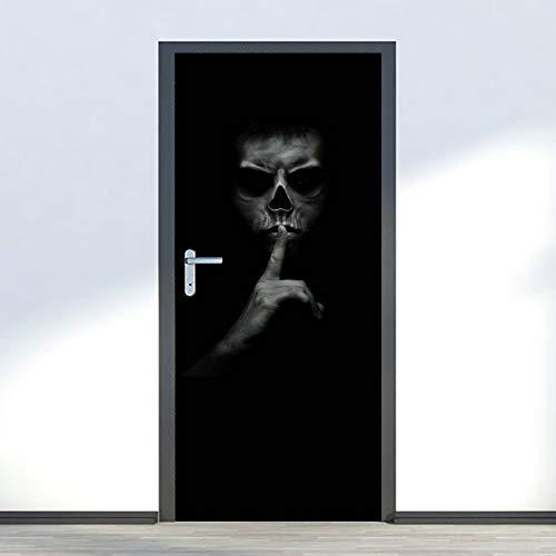 Deursticker 3D voor binnendeuren zelfklevend ideeën Halloween fotobehang wanddecoratie wandsticker afneembaar woonkamer keuken slaapkamer decoratie wandsticker 90x210cm