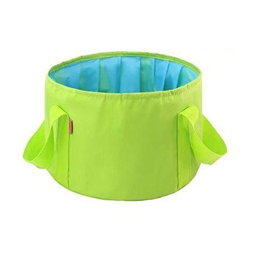 FH Lavabo Pliant Portatif, Blanchisserie De Grande Capacité De 15 L Pour Les Voyages, Seau De Pêche En Plein Air, Sélection Multicolore (Couleur : Green)