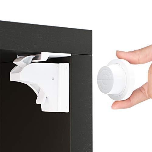 Magnetische Kindersicherung Schrank und Schubladen von Avantina® - 4 x Schranksicherung – unsichtbare Kindersicherung - Kinder-sicherung für Küchen, ohne Bohren