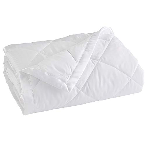 Home Fashion Designs Lightweight Queen Goose Down Alternative Blanket with Satin Trim. Romana Collection, White