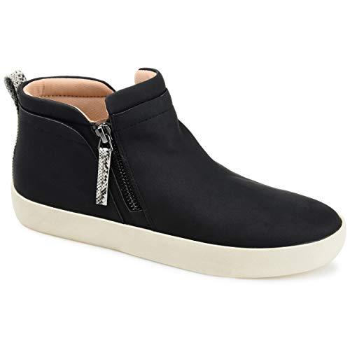 Journee Collection Women's Comfort Foam Frankie Sneakers Black 8.5 Medium Womens US