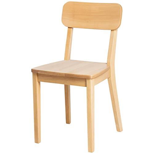 Holzstuhl Bistro, 40x46x80 cm (BxTxH), Sitz buche, Gestell buche, 2 Stück/Packung