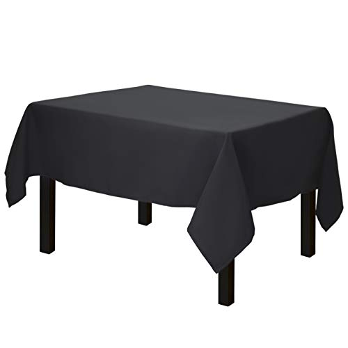 Gee Di Moda Square Tablecloth - 52 x 52 Inch - Black Square Table Cloth for Square or Round Tables in Washable Polyester - Great for Buffet Table, Parties, Holiday Dinner, Wedding & More