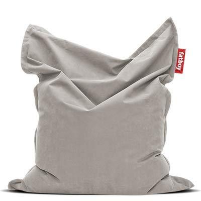 Fatboy® Original Stonewashed Sitzsack | Klassische Indoor Beanbag aus Baumwolle, Sitzkissen in Silber | 180 x 140 cm