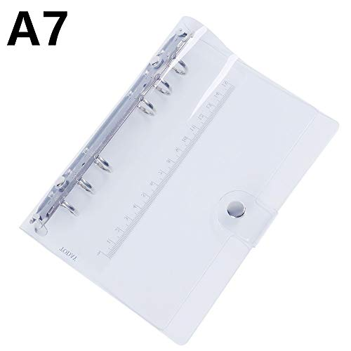 PVC Transparent Spiral Agenda Traveler Journal Notebook Sheet Shell School DIY 6 Holes Binder Diary Planner Cover A5 A6 A7