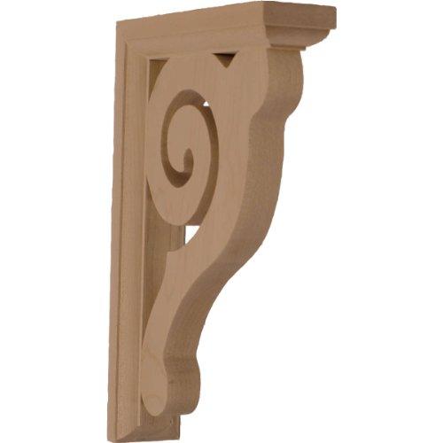 Ekena Millwork BKT01X06X08BURW  1 1/2-Inch W by 6-Inch D by 8 1/2-Inch H Bulwark Bracket, Rubber Wood