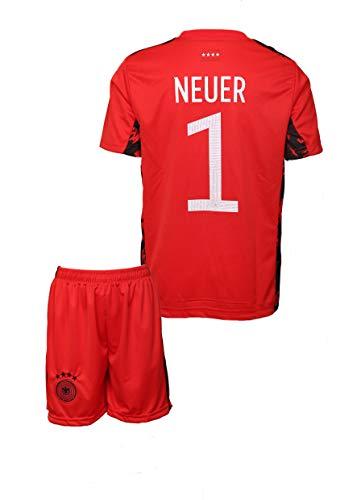 Deutschland #1 Neuer Weltmeisterschaft 2018 Torwart Edition Kinder Fußball Trikot Hose und Socken Kindergrößen (140)