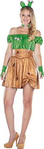 Rubies 13404-36 - Disfraz Sexy de Cactus, con Flores, Cactus, para Mujer, Desierto, Color marrón/Verde
