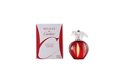 Delices de Cartier by Cartier for Women - 1.6 Ounce EDT Spray