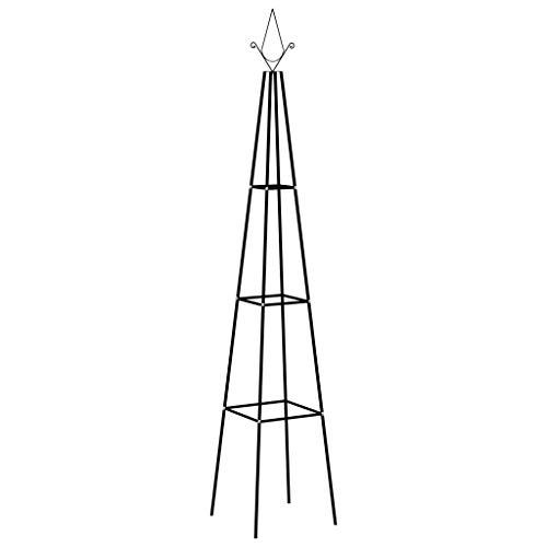 vidaXL 2X Garten Rankhilfe Rosenpyramide Pergola Spalier Rankgitter Obelisk Rosenturm Rosensäule Rosen Rankturm Schwarz 35x35x195cm Eisen
