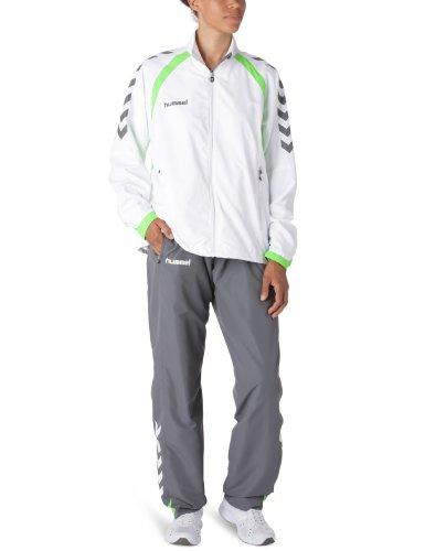 hummel Damen Trainingsanzug Team Spirit Micro Suit, weiss / grau, S, 54-167, 9559