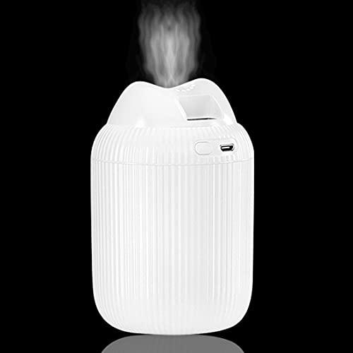 Mini humidificador HSAJS, humidificador de aire silencioso portátil USB Apagado automático sin agua para automóvil, dormitorio, yoga, oficina, dormitorio para bebés