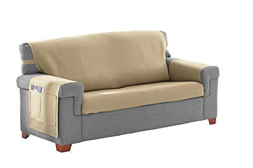 Martina Home Cubre sofá/Salvasofa Modelo Betta Color Crudo Medida 3 plazas de 170x210 cm, Tela