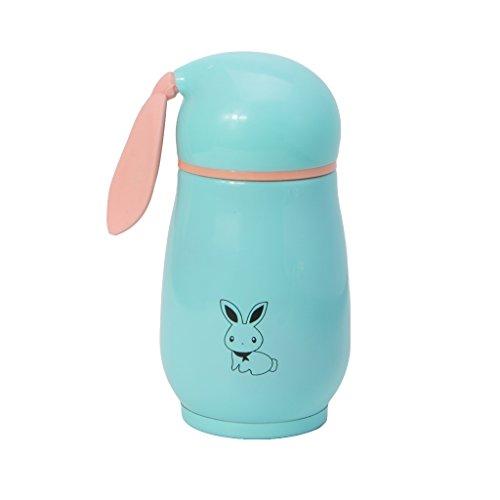 RTPUYTR Garrafa térmica Lovely Rabbit de aço inoxidável, copo a vácuo para crianças bebendo
