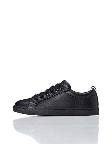 REDWAGON Minimalistischer Jungen Sneaker, Schwarz (Black), 34.5 EU