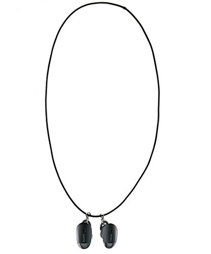 @ccessory Anti-perdido Bluetooth Auricular Correa para el Cuello tirilla con Metal Gancho de Clip para Bose Sound Sport Free/Sony WF-1000X (Negro)