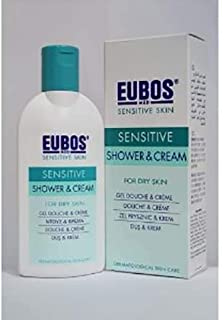 #MC EUBOS Shower&Cream 200ML-2 in 1 Refreshing & Moisturizing Cleanser for Rehydration of Dry Skin Daily & After Sports.(Alkaline Free, Dye-Free, Lanolin-Free, Peg-Free, Paraben-Free)