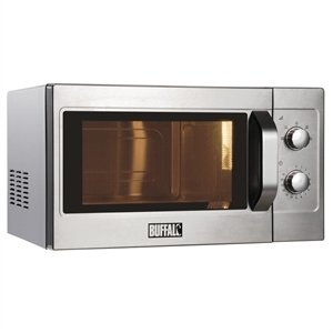 Heavy Duty Manual Commercial Microwave Oven 1100W - Commercial Kitchen Bistro Restaurant Cafe Pub Microwave by Buffalo