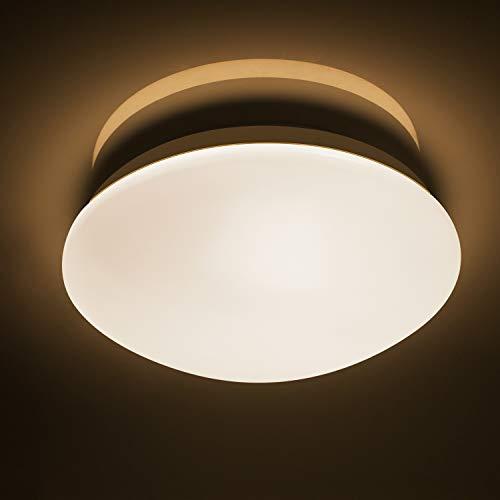 Lineway LED Deckenleuchte mit Radar-Bewegungsmelder 15W 3000K IP44 Wasserdicht Rund Deckenlampe mit Bewegungssensor für Garage, Bad, Kelller, Abstellraum, Veranda [Energieklasse A+]