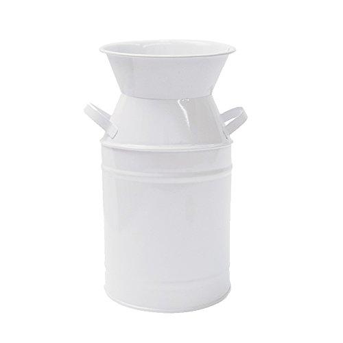 Bewässerung Honig Elegant Weiß Klein Primitiv Krug Vase verzinktem Milch kann für Home Office Decor