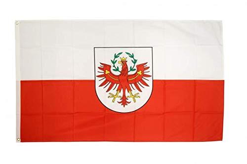 Flaggenfritze Fahne/Flagge Österreich Tirol 90 x 150 cm + gratis Sticker