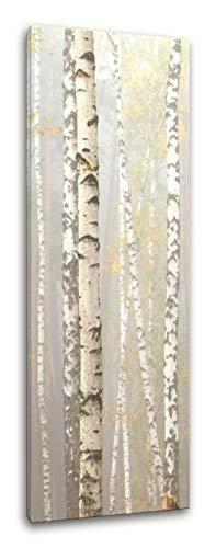 PIX Visions Leinwand Bilder Leinwandbilder Bild Wandbild XXL Hochformat Birkenwald schwarz weiß Natur Wald Birke Baum Landschaft Kunstdruck FotodruckDekoration Art Digital Print Foto