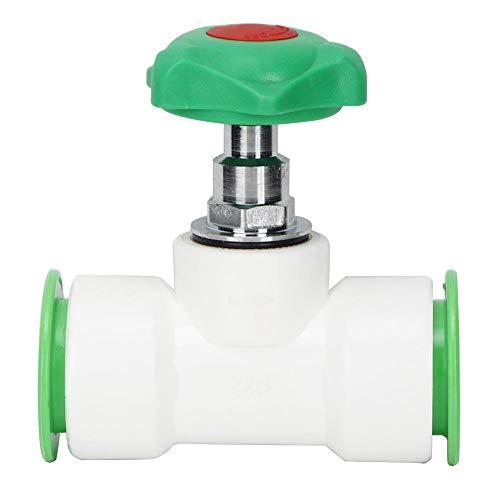 Fditt Válvula de Globo Recta Corta PPR Plástico de Alta Resistencia sin óxido ni Escamas Resistente al Calor