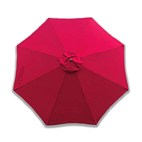 "Formosa Covers Replacement Umbrella Canopy for 10 Foot 8 Rib Market Outdoor Patio Shades Ribs Length 58"" to 60"" (Canopy Only) (Red)"