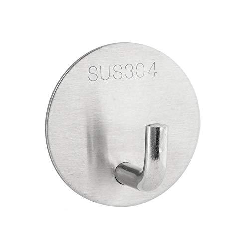 8pcs304 acero inoxidable autoadhesivo no perforado Puerta de metal Hanger Glace Fácil de instalar gancho multifuncional-C5 resistente a la corrosión fácil de limpiar e higiénico