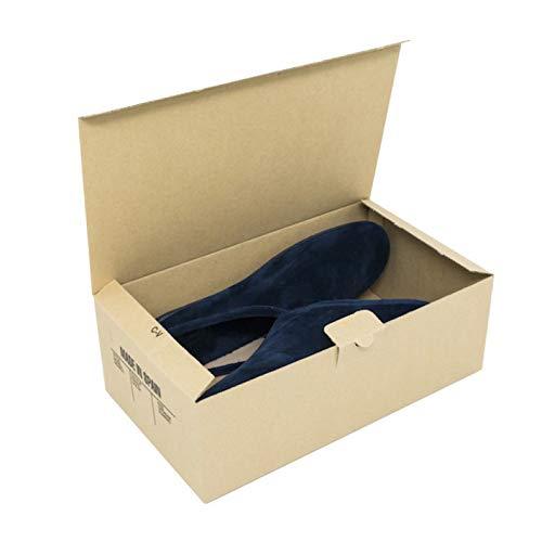 Cajeando | Pack de 10 Cajas de Cartón Automontables para Zapatos | Tamaño 31,5 x 17,5 x 10,5 cm | Zapatero Apilable y Ordenación de Sneakers o Zapatillas | Guarda Zapatos | Color Marrón