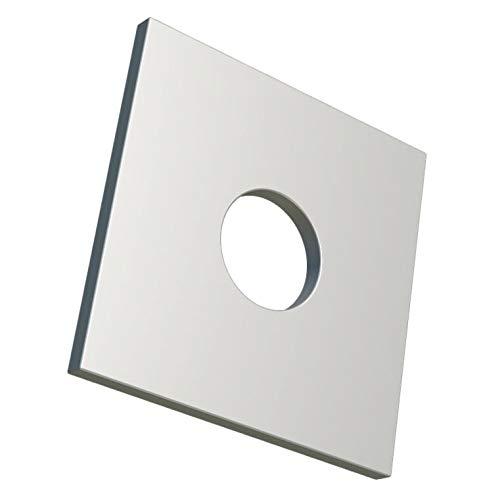 M12 Vierkantscheiben Vierkant-Unterlegscheiben, rechteckige Unterlegscheibe mit rundem Loch, verzinkte verzinkte Hochleistungsscheibe für 12mm Schrauben/Muttern DIN436 (5er Pack)