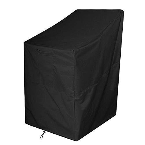 AOUSTHOP Gartenstühle Abdeckung, Schutzhülle Gartenstühle wasserdicht 420D Oxford Stoff Reclining Patio Stapelung Stuhlbezug Outdoor Patio Möbelbezug (65x65x120/80cm)
