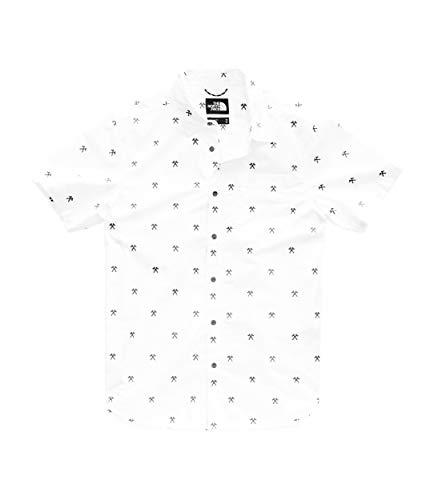The North Face S/S Baytrail Camiseta Manga Corta, Hombre, TNF White Hatcht Jacquard, S