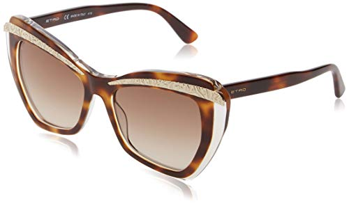 Etro ET645S 249 55 Gafas de sol, Havana/Crystal, Mujer