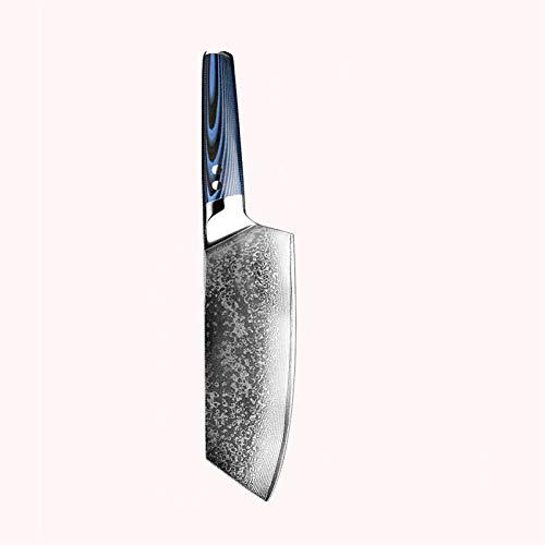 Couteau Chef Couteau Damascus Couteau japonais Sashimi Santoku Clever Scotter Outil Blue Cuisine Accessoires (Color : 8 in cleaver knife)