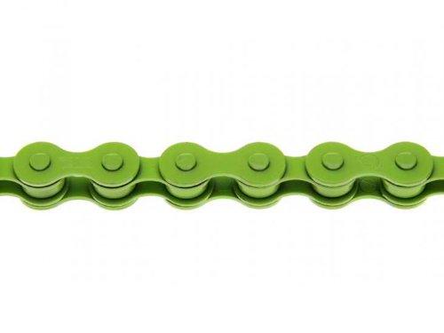 Taya catena per la bicicletta 410H singlespeed, 1/2' x 1/8', Fixie mozzo cambio catena BMX verde giallo