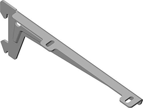 Element System 18133-00047 Winkelträger Regalträger 1-reihig / 2 Stück / 5 Abmessungen / 3 Farben/L = 18 cm/weißaluminium/für Holzböden/Wandschiene