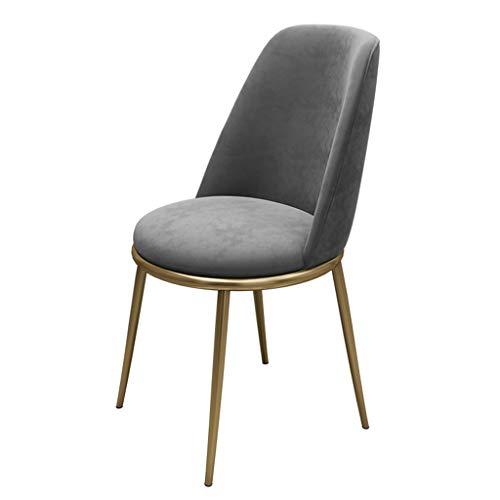 ZTCWS Modern dining & vrijetijdsstoel, metalen poten, velvet kussen, zitting en rugleuning voor horeca, woon- en wachtkamerstoelen